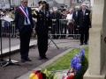 Jean Quetier, Mayor of Sainte-Mere-Eglise, France, and General Curtis M. Scaparrotti, Supreme Allied Commander Europe, render honors after placing a wreath on the Alexandre Renaud Memorial during a ceremony Sainte-Mere-Eglise, France, May 31, 2018. Alexandre Renaud was mayor of Sainte-Mere-Eglise on D-Day and is responsible for rallying the citizens of his city to aid the Allies during the invasion.