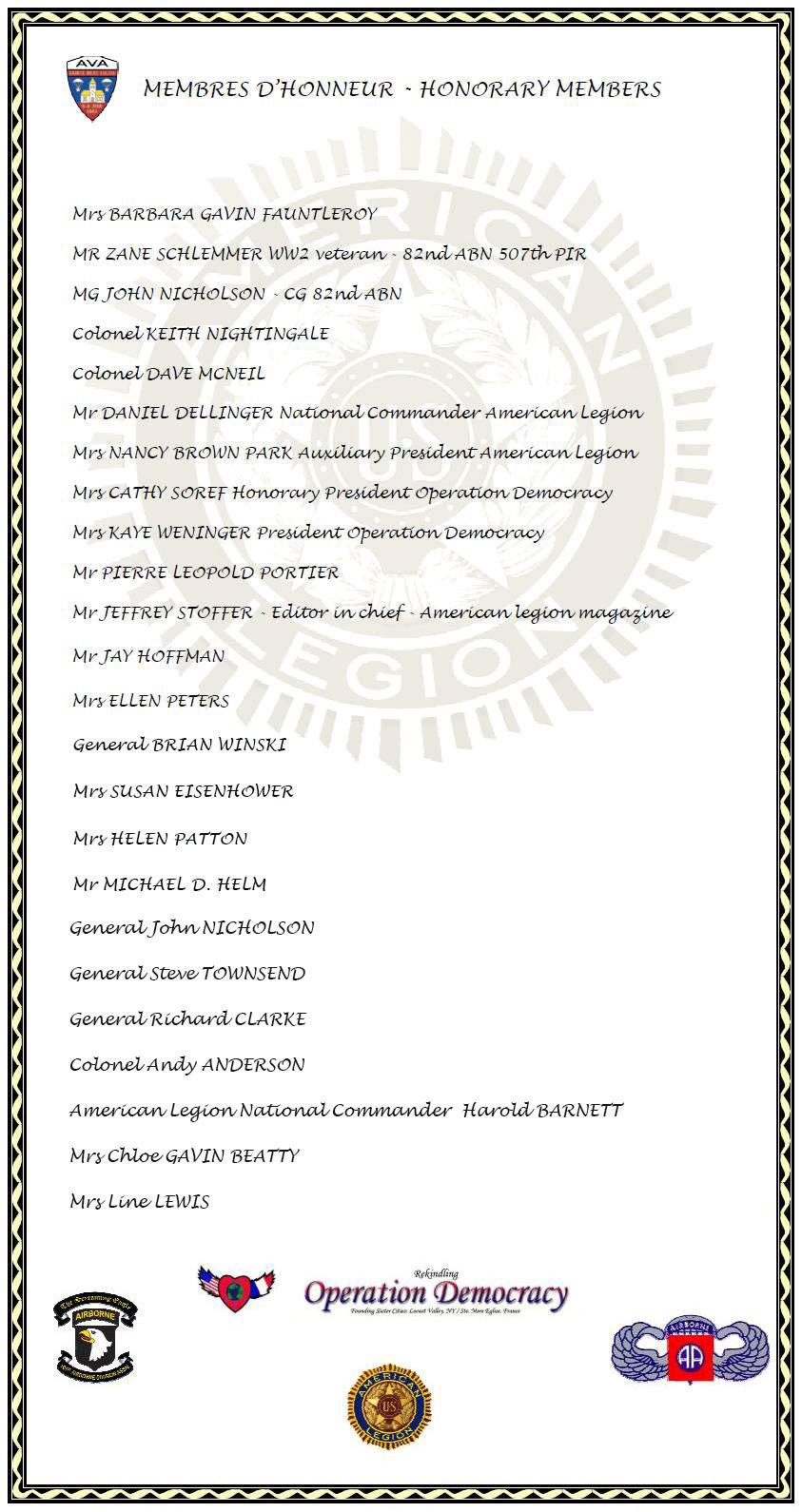 Membres honoraires